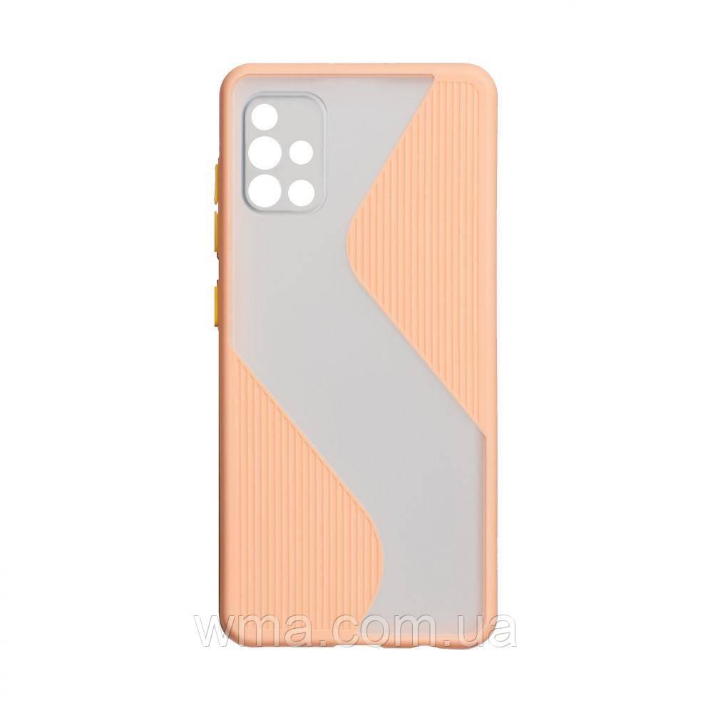 Чехол Totu Wave for Samsung A51 Цвет Розовый
