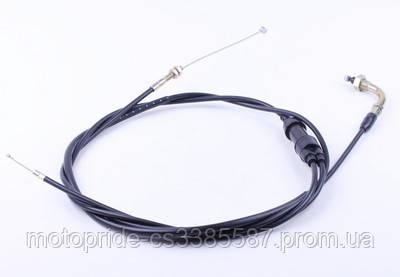 Трос газа (раздвоен.) L-2220mm (верх резьба, низ: 1резьба 2трос) - Lead