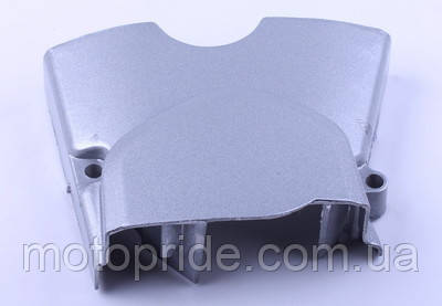 Крышка двигателя левая вилка (метал) - Дельта/Альфа