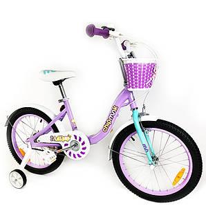 """Велосипед детский RoyalBaby Chipmunk MM Girls 16"""", OFFICIAL UA, фиолетовый (CM16-2-purple)"""