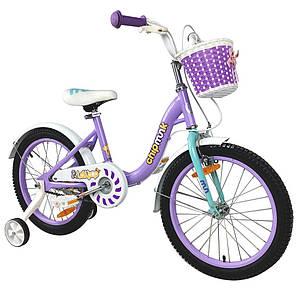 """Велосипед детский RoyalBaby Chipmunk MM Girls 18"""", OFFICIAL UA, фиолетовый (CM18-2-purple)"""