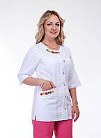 """Медицинский костюм женский """"Health Life"""" х/б с вышивкой 2260"""