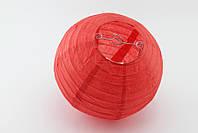 Бумажный подвесной фонарик, красный, 25 см