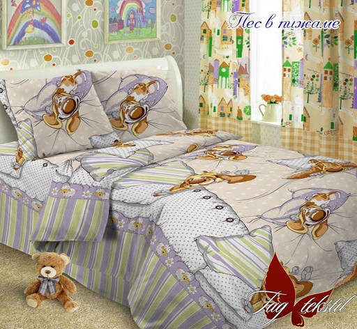 Детское постельное белье TAG Поплин подростковое Пес в пижаме, фото 2