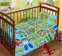 Комплект детского постельного белья ТМ TAG Robocar Poli в кроватку