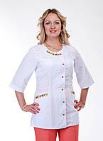 """Медицинский костюм женский """"Health Life"""" х/б с вышивкой 2261"""