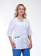"""Медицинский костюм женский """"Health Life"""" х/б с вышивкой 2262"""