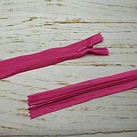 Молния потайная неразъемная, витая, Т3, 50см, нейлон, 3833 розовый