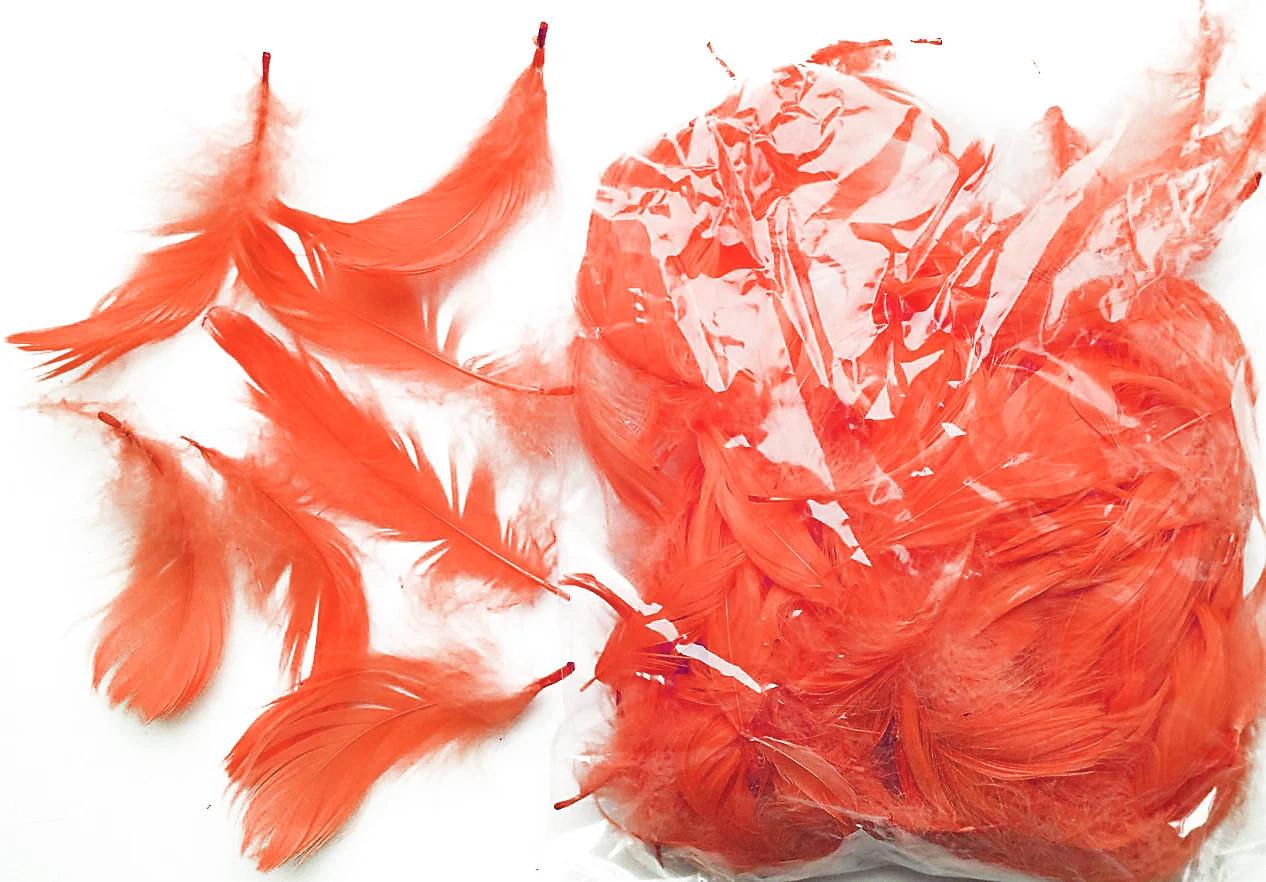 Перья декоративные персиковые 120 шт