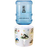 Керамический диспенсер для воды «Далматинец Белый», фото 1