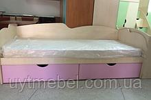 Ліжко Арлекіно+шух. рожевий глянець (Просто Меблі)