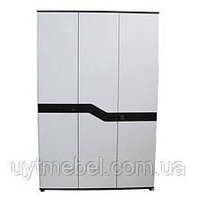 Шафа Ніколь 3Д венге/білий глян (Просто Меблі)
