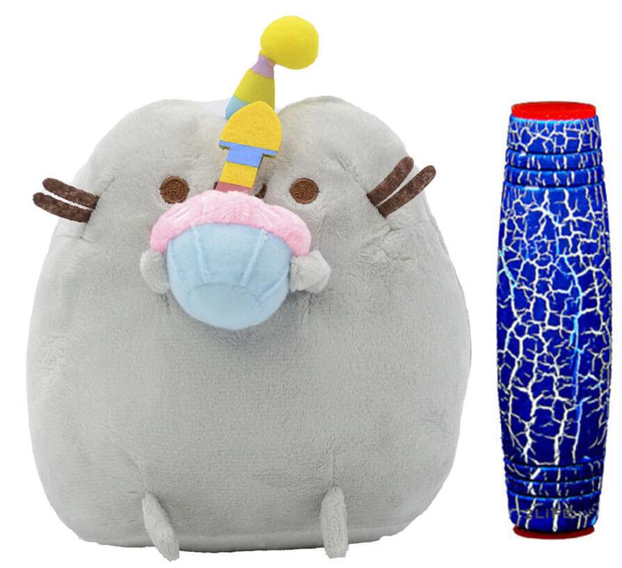 Комплект Мягкая игрушка кот с кексом Pusheen cat и Антистресс игрушка Mokuru (vol-722)