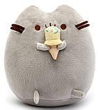 Комплект Мягкая игрушка кот с мороженым Pusheen cat и Антистресс игрушка Mokuru (n-724), фото 2