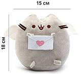 Комплект Мягкая игрушка кот с письмом Pusheen cat и Антистресс игрушка Mokuru (vol-725), фото 2