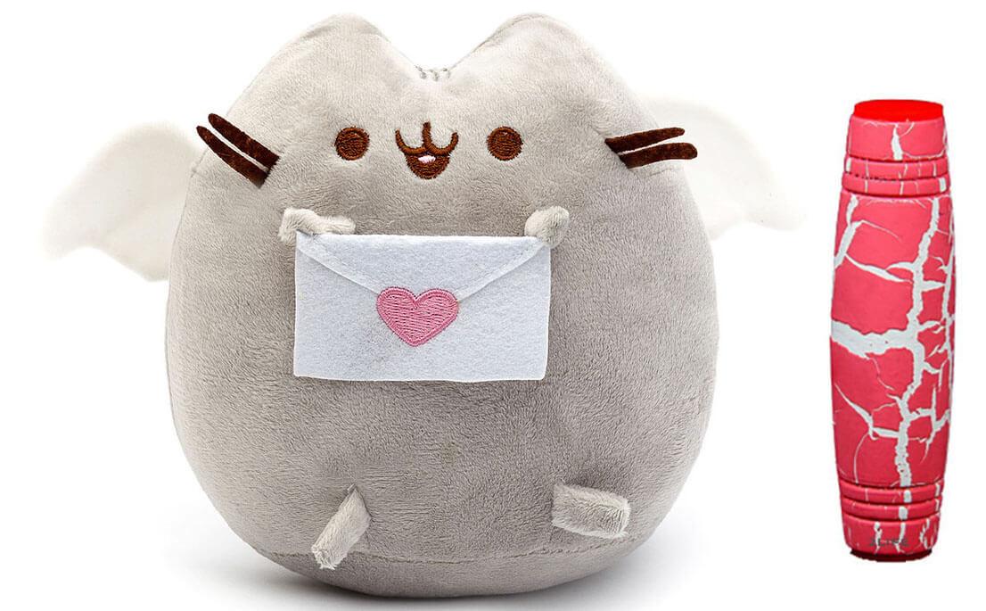 Комплект Мягкая игрушка кот с письмом Pusheen cat и Антистресс игрушка Mokuru (vol-725)