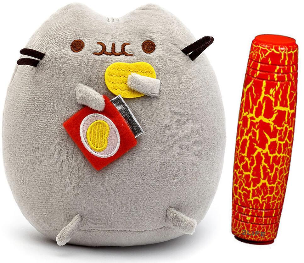 Комплект Мягкая игрушка кот с чипсами Pusheen cat и Антистресс игрушка Mokuru (n-726)