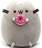 Комплект Мягкая игрушка кот с пончиком Pusheen cat и Антистресс игрушка Mokuru (vol-727), фото 3