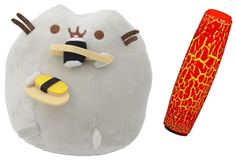 Комплект Мягкая игрушка кот с суши Pusheen cat и Антистресс игрушка Mokuru (vol-728)
