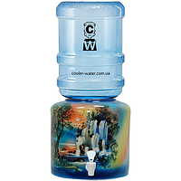 Керамический диспенсер для воды «Водопад Синий», фото 1