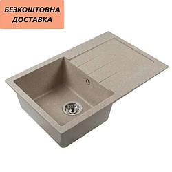 Мойка каменная Ventolux STELLA (BROWN SAND) 765x485x200 Коричневая