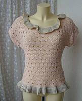 Свитерок теплый ажурный нарядный бренд Miss Selfridge р.44-46 3805