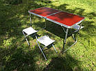Раскладной туристический стол для пикника 120 см со 4 стульями, алюминиевый, фото 8