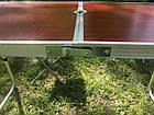 Раскладной туристический стол для пикника 120 см со 4 стульями, алюминиевый, фото 9