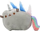 Комплект Мягкая игрушка кот-единорог радуга Pusheen cat и Антистресс игрушка Mokuru (vol-720), фото 2