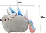 Комплект Мягкая игрушка кот-единорог радуга Pusheen cat и Антистресс игрушка Mokuru (vol-720), фото 3