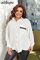 Удлиненная блузка женская батал, с 56-66 размер, фото 1