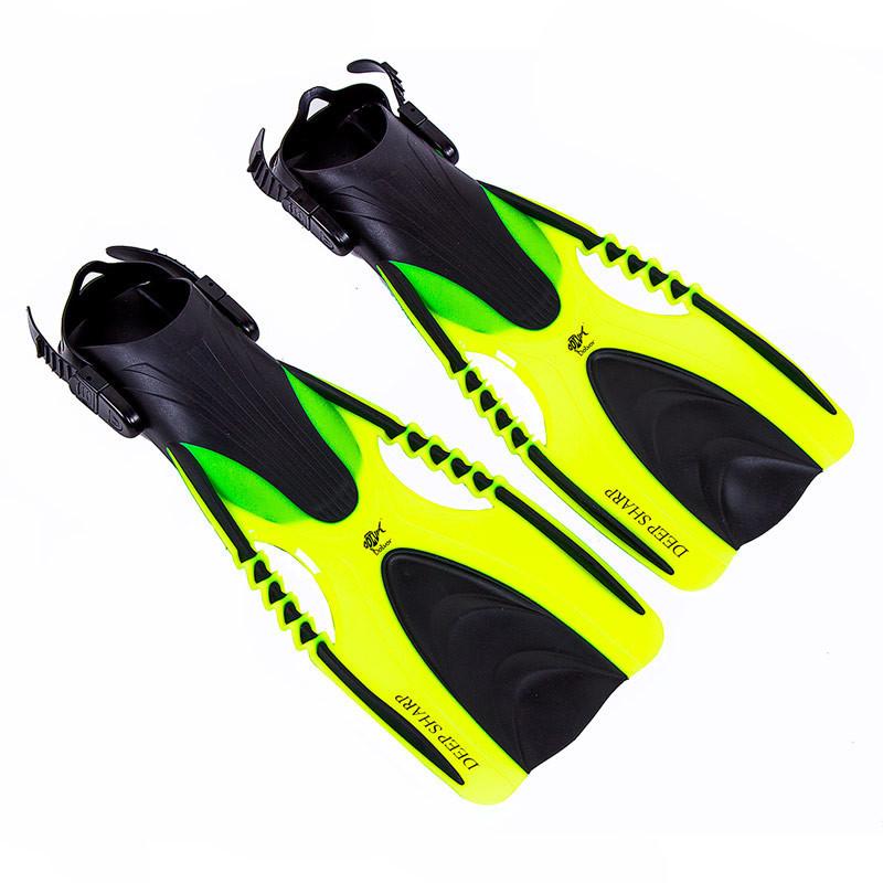 Ласти для плавання з відкритою п'ятою регульовані Dolvor F88 розмір 37-41 жовтий