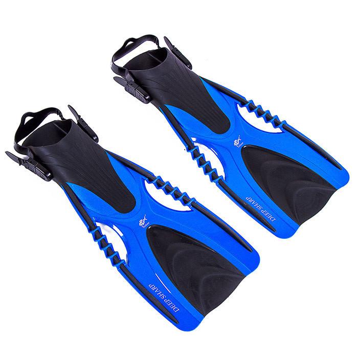 Ласты для плавания с открытой пяткой регулируемые Dolvor F88 размер 37-41 синий