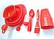 Столовый набор для пикника 48 предмета Picnic Package 48-ОМ красный, фото 3