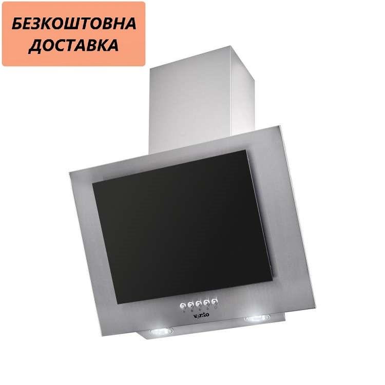 Вытяжка Ventolux FIORE 60 X/BG (750) PB Наклонная Нержавеющая сталь Черное стекло