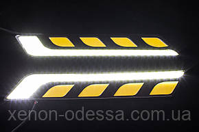 LED COB DRL 17 см Белые + Желтые, фото 2