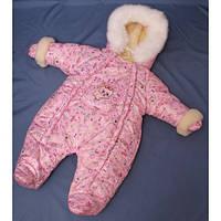 Бесплатная доставка!  Зимний комбинезон для новорожденных (0-6 месяцев) принцесса