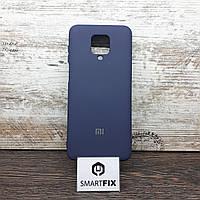 Силиконовый чехол для Xiaomi Redmi Note 9S Full Soft Темно-синий