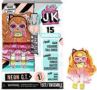 "Игровой набор с куклой L.O.L. SURPRISE! серии ""J.K."" - Леди Неон JK Neon Q.T. Mini Fashion Doll, фото 1"