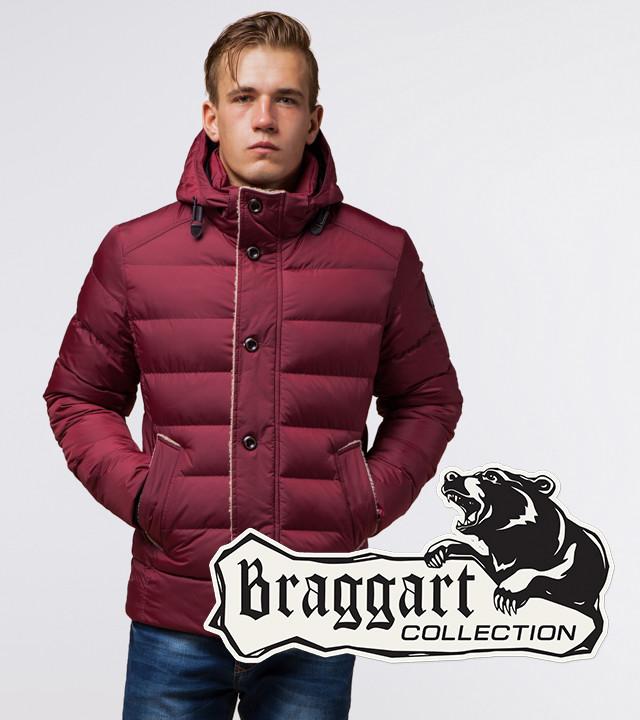 Куртка зимняя с капюшоном бордовая