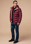 Куртка зимняя с капюшоном бордовая, фото 2