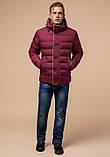 Куртка зимняя с капюшоном бордовая, фото 3