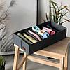 Комплект органайзеров для нижнего белья 3 шт ORGANIZE (серый), фото 4