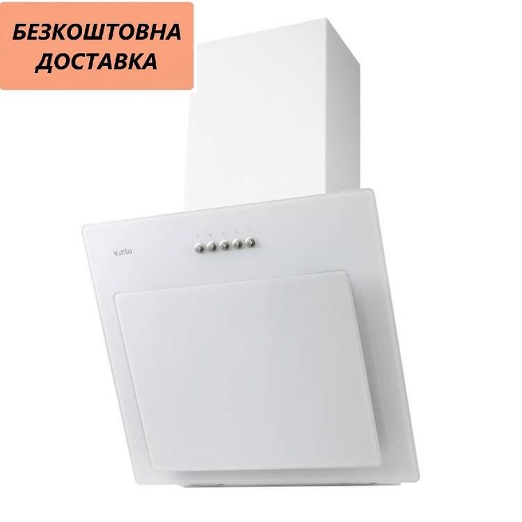 Кухонная вытяжка Ventolux FIORE 50 WH (750) PB Наклонная, Белая, Стекло
