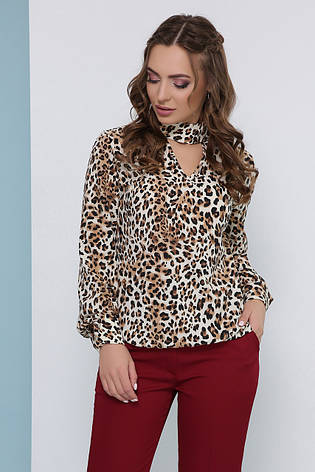 Блузка женская бежевая летняя с длинным рукавом. Ткань супер софт. Повседневная, офисная легкая блуза, фото 2