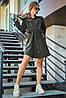 Расклешенное приталенное однотонное женское платье-рубашка (1623.4239-4241-4240 svt), фото 4