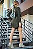 Расклешенное приталенное однотонное женское платье-рубашка (1623.4239-4241-4240 svt), фото 5
