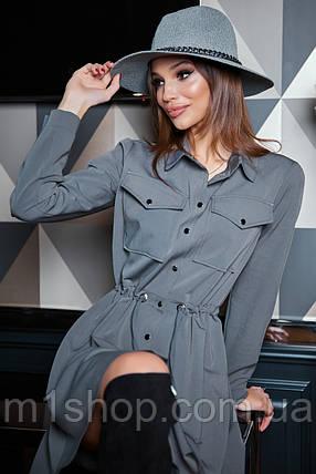 Расклешенное приталенное однотонное женское платье-рубашка (1623.4239-4241-4240 svt), фото 2
