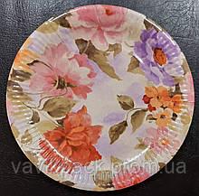 Тарелка картонная  ламинированная с рисунком (d - 24 см, 10 шт)