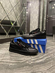Мужские кроссовки Adidas Brand With The 3 Stripes Black (черные)